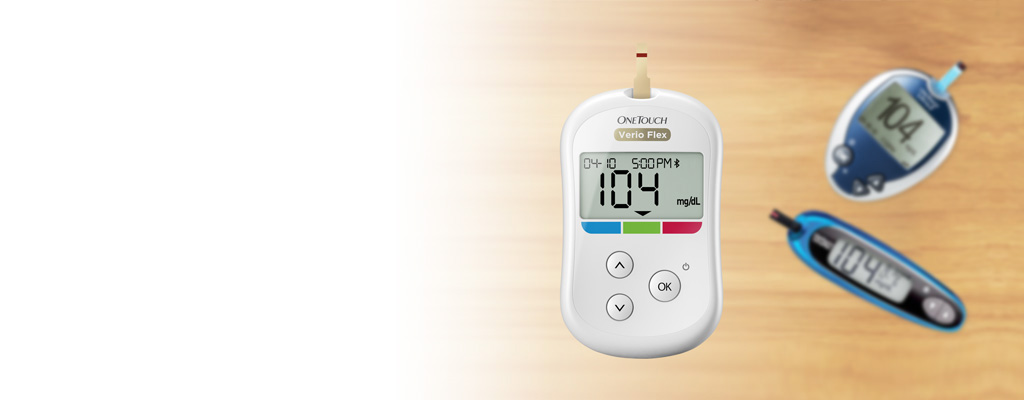 OneTouch Verio Flex™ meter and Ultra meters faded