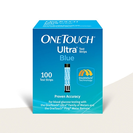 OneTouch® Ultra® test strips hero