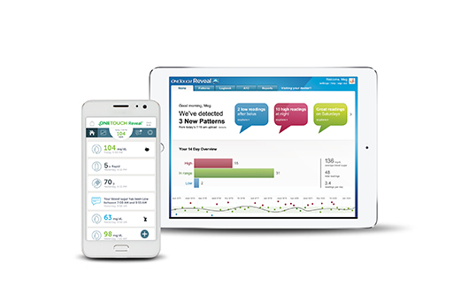 OneTouch Reveal® mobile and web apps for patients lockup
